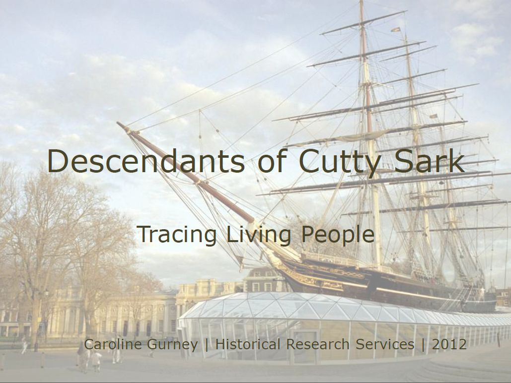 Descendants of Cutty Sark - Tracing Living People